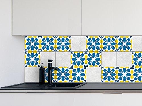 Adesivi per piastrelle cucina Modello moderno Dimensioni della pellicola del vinile per le dimensioni differenti delle mattonelle della parete del bagno - 16pcs