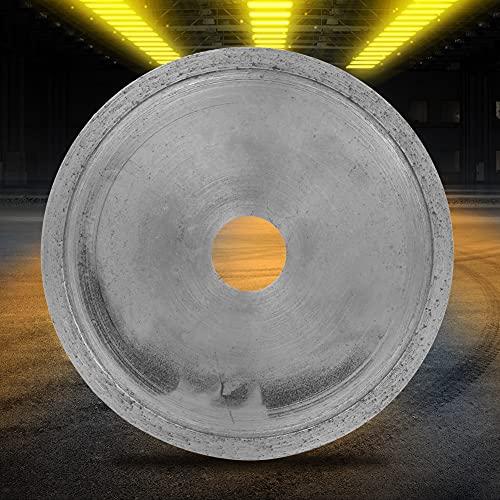Hoja de corte de diamante, amoladora angular de diamante resistente al desgaste Conveniente Durable para jadeíta para gema para cristal para ágata(Toothless piece 100 * 16 * 1.0)