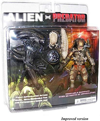 XXSDDM-WJ Regalo Figura de acción Exclusiva 2 Pack Alien Vs. Depredador ERJ246