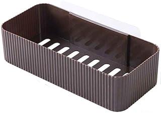 Support d'angle de salle de bain Support de rangement pour salle de bain Rangement Etendoir Mur Mouted Drainer Etagères Co...