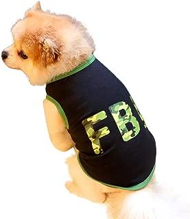 Lookvv FBI Pet Vest Breathable Summer Cotton Sleeveless T-Shirt Small Dog Cat Clothes