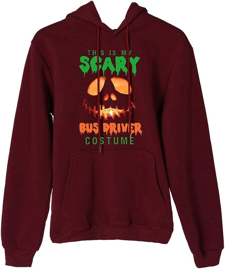 Girls' Hoodie, Misaky Halloween Casual Pumpkin Letter Print Long Sleeve Hooded Pullover Sweatshirt Jumper
