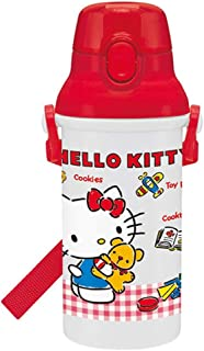 Character Water Bottle with Strap(34.3'') for Kids Girls Boys, Leak Proof, 16oz (480ml)