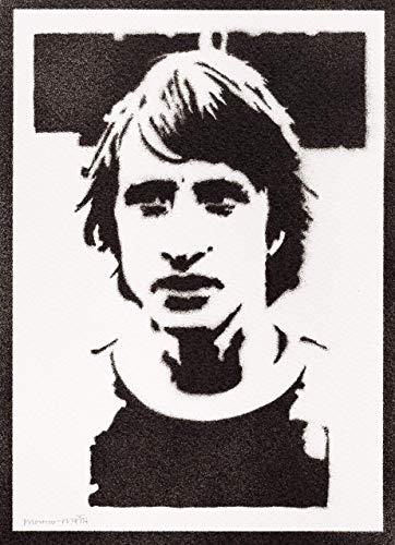 Johan Cruyff Poster Plakat Handmade Graffiti Street Art - Artwork
