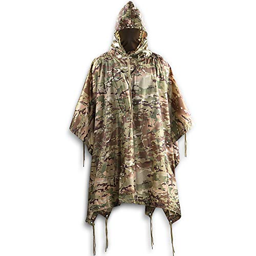 Review M-Tac Poncho Mens Military Army Raincoat Ripstop Waterproof Rain Cover