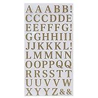 シール シート[アルファベット 金]グリッター 文字 シール/ゴールド