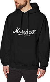 Lucen-Fashion Adult Men's Marshall Amplification Fit Sweatshirtst Black Graphic for Hooded Sweatshirt