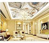 Weaeo Mural Con Relieve En 3D Fondo De Techo Mural Moderno Para Sala De Estar Fondo De Pantalla Fotográfica 3D Techo-450X300Cm