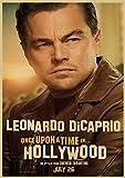 sanzhisongshu Nuevo póster de película Érase una Vez en Hollywood, Impresiones artísticas Retro, imágenes de decoración de Pared Vintage, Carteles de Quentin Tarantino 2019, N1044 50X70Cm