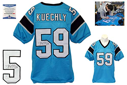 Luke Kuechly Autographed Signed Jersey - Blue - Beckett Authentic
