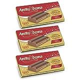 Turrón Chocolate Crujiente 250 gramos - [PACK 3 TABLETAS] - Marca Antiu Xixona