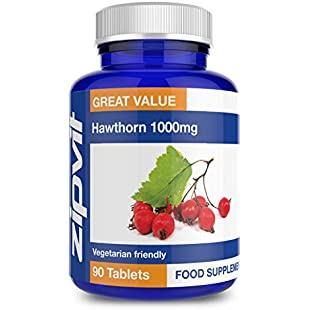 Hawthorn 1000mg | 90 Tablets | Vegetarian | High Strength & Purity | 3 Months Supply