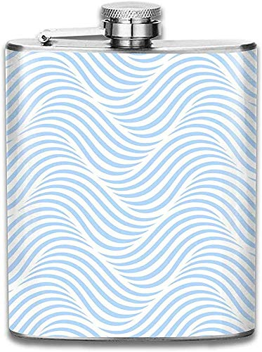 Kundengebundene abstrakte Wellen-Hintergrund-Edelstahl-Wein-Flasche, personalisiertes Flaschen-Geschenk