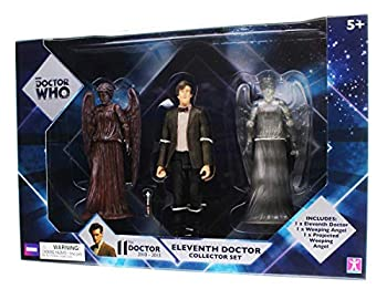 BBC Doctor who 11th Doctor and Weeping Angels Collector Figures Set