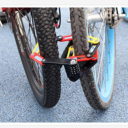 4stelliges Passwort Fahrradsicherungsschloss, faltbares MotorradSicherheitsschloss