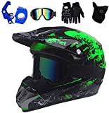 AMONE Motocross Helmet, Adult Motocross Helmet Suitable for Mountain Motorcycle ATV Off-Road Sports Protection, Youth Motocross Helmet, Boys and Girls Motorcycle Helmet DOT Certification (M)