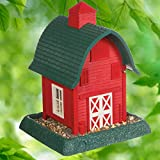 North States Village Collection Red Barn Birdfeeder: Easy Fill and Clean. Squirrel Proof Hanging Cable included, or Pole Mount (pole sold separately). Large, 5 pound Seed Capacity (9.5 x 10.25 x 13.25, Red)