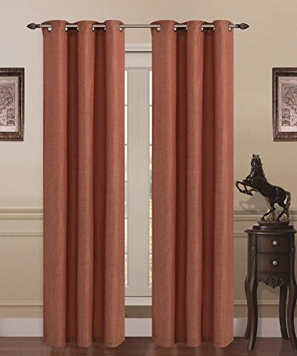 Union Square Room Darkening Grommet Window Panel - Heavy Linen (Burgundy)