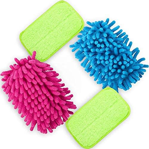 Borrador de tiza de microfibra de 4 piezas magnético sin polvo, borrador de pizarra multiusos de limpieza borradores de pizarra lavable..