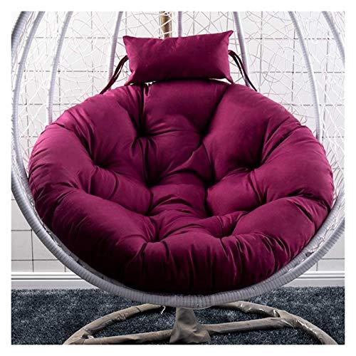 HLZY Cojines para exteriores para sillas de patio, columpio, silla no incluida, cojín grueso para respaldo de silla colgante para interiores y exteriores, patio, jardín, cubierta