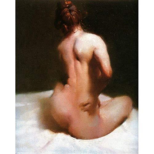 wydlb Künstlerpinsel Modern Impressionist Art Art Buyers Hochwertige Schöne Nackte Frauen, Gemalte Gemälde Chromic Maste 60x90cm Ohne Rahmen