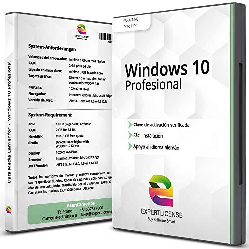 Windows 10 Pro - Versión completa │ISO DVD - 64bit - incl. Actualizaciones │ Clave de activación + Guía de instalación│ Español │ NUEVO │ SOPORTE AL CLIENTE