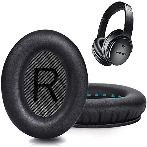 Premium Replacement Ear Pads for Bose QC35 & QC35ii Headphones - Comfortable Adaptive Memory Foam and Extra Durable