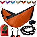 NEW YEAR SALE Tavorland Camping Hammock, Portable Ultralight Double Parachute Hammock with Free Tree Straps for Backpacking Back Yard Beach Travel