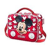 Karactermania Mickey Mouse Funny Bolsa Escolar, 24 cm, Rojo