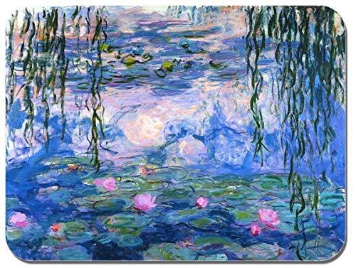 Tappetino per mouse, motivo: Ninfee di Claude Monet, stampa artistica di alta qualità