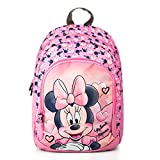 Disney Mochila, mochila escolar primaria, para niña, Minnie Mouse, rosa, 38 x 27 x 11 cm