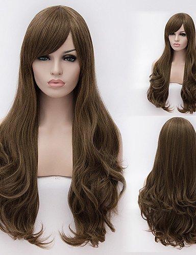 Manière simple et confortable et perruques cheveux européens et américains européenne haute température de qualité Longueur du fil cheveux bouclés perruque mode fille nécessaire