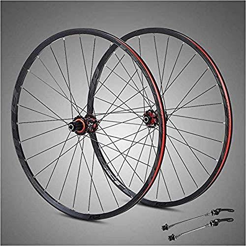 Juego de ruedas de bicicleta de 29 pulgadas buje de fibra de carbono ultraligero rueda trasera delantera rueda de freno de disco de doble pared con marca reflectante liberación rápida cuatro ruedas d