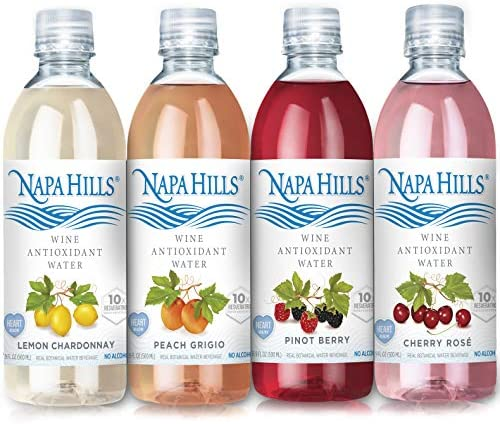 Napa Hills Wine Antioxidant Water Variety Pack of Flavored Wine Water Non Alcoholic Resveratrol product image