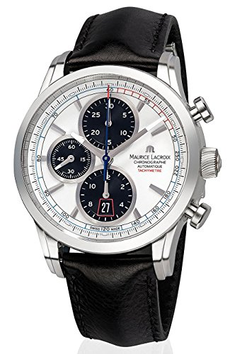 Maurice Lacroix Pontos Chronograph Automatic Mens Strap Watch Date...