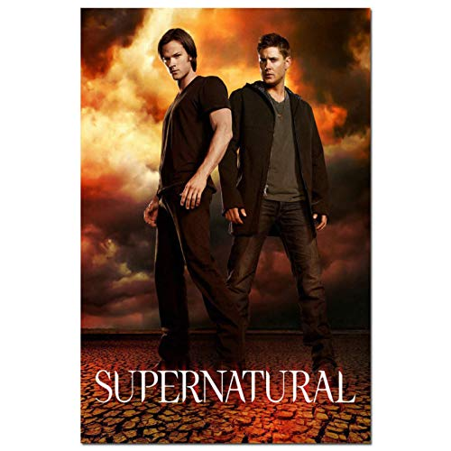 KONGQTE Supernatural TV Series HD Sam Dean Winchester Hot - 36 Poster Canvas Painting Home Decor -20x30 inches Without Border