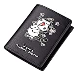 WANHONGYUE Chi's Sweet Home Cartera de Cuero Artificial Billetera Hombres Portatarjetas Tarjetero con Impresión Anime Negro 1 / A