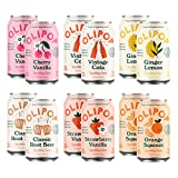 OLIPOP - 6-Flavor Soda Variety Pack, Healthy Soda Sampler, Prebiotic Soft Drinks, Supports Digestive Health & Gut Health, 9g of Dietary Plant Fiber, Low Calorie, Low Sugar, Vegan (12 oz, 12-Pack)