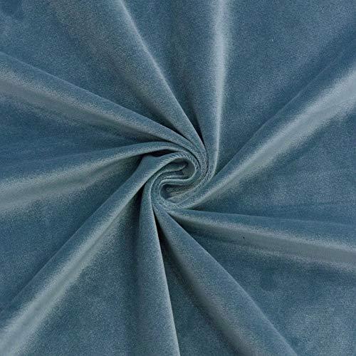 MUYUNXI Tela De Terciopelo Suave para Coser De Chaquetas Decoración Decoración del Hogar Cortinas Tapicería Vestido Sillas 280 Cm De Ancho Vendido por 2 Metro(Color:Azul Claro)