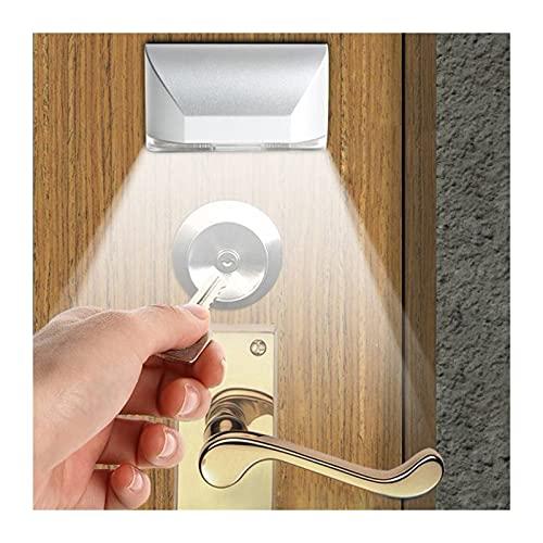 Luz de Noche DIRIGIÓ Intelligent Puerta Cerradura Gabinete Llave Inducción Pequeña Noche Luz Lámpara Sensor (Color : As show)