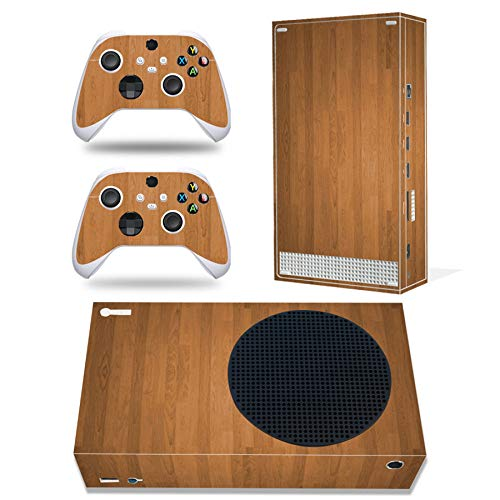 Skin für Xbox Series S, Ganzkörper-Vinyl-Aufkleber, Schutzfolie, Aufkleber für Xbox Series S Konsole und Wireless Controller (braunes Holz)