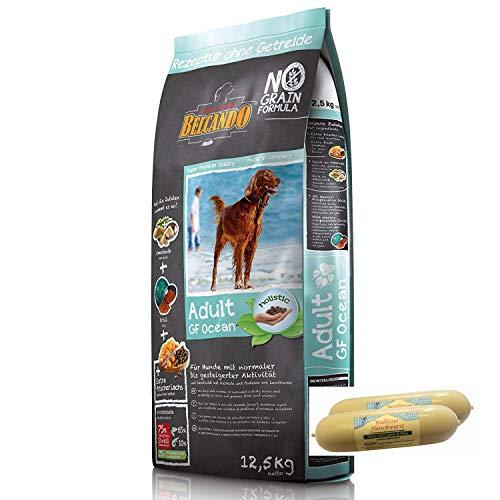 Belcando Adult Grain Free Ocean Hundefutter 12,5kg + 1 x 400g Fleischwursts gratis dazu