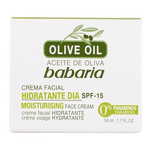 Babaria 1004-47319 Huile d'Olive Crème Visage Hydratante SPF15 50 ml