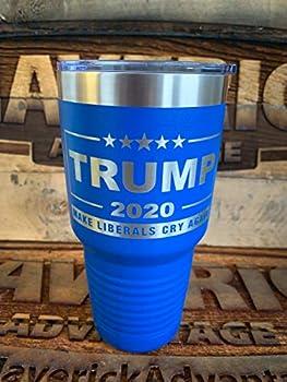 Trump 2020-30oz Insulated Tumbler - MAGA - Make Liberals Cry Again - BLUE
