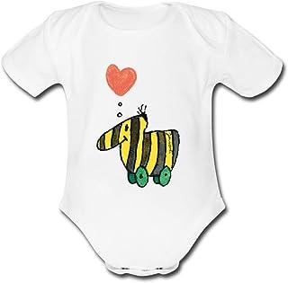 Spreadshirt Janosch Große Tigerente Mit Herz Baby Bio-Kurzarm-Body