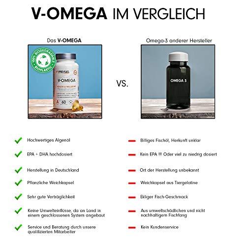 PROFUEL® V-OMEGA (Motoroel) │Vegane OMEGA 3 Fettsäuren │Microalgen EPA & DHA hochdosiert │Die optimale und pflanzliche Alternative zu Fischölkapseln │60 Soft Caps - 3