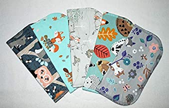 1 Ply Printed Flannel 12x12 inches Sweet Woodland Animals-5 Pack