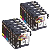 AUBEN 18XL Cartuchos de Tinta 12 Compatible para 18 XL con Expression Home XP-215 XP-225 XP-33 XP-302 XP-305 XP-312 XP-315 XP-322 XP-325 XP-405 XP-412 XP-415 XP-422 XP-425 XP-102 XP-202 XP-205 XP-212