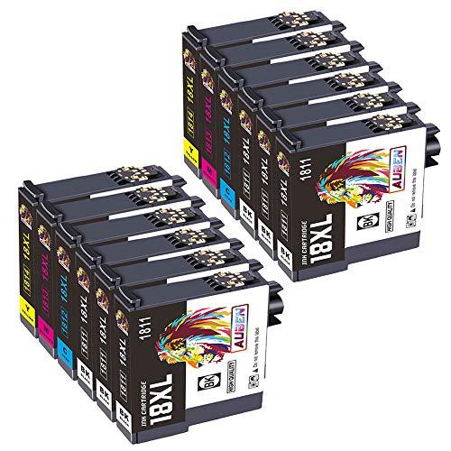AUBEN 18XL Cartuchos de Tinta 12 Compatible para 18 XL con Expression Home XP-215 XP-225 XP-33 XP-302 XP-305 XP-312 XP-315...