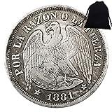 SeTing Moneda Conmemorativa de México 1881 - Moneda Vieja de México - Moneda Gran México - MX Brillante Sin Circular Histórico Eagle Monedas - Deeply miss motherland Servicio Permanente